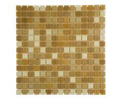 Мозаика стеклянная Mix бежевый NO-204N