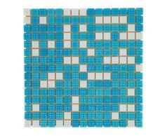 Мозаика стеклянная Mix Bahama светлая вариант 2 А20N