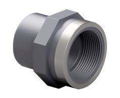 Адаптер-втулка ПВХ Effast с металлическим кольцом