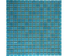 Мозаика стеклянная одноцветная Aquaviva, голубая A08N(2)