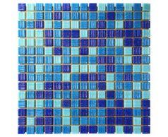 Мозаика стеклянная Aquaviva Majorca Dark