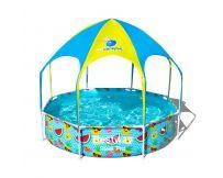 Каркасный бассейн Bestway 56432 (244х51 см) с навесом